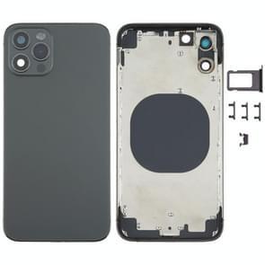 Achterkant behuizing cover met uiterlijk imitatie van de iPhone 12 Pro voor iPhone X (Zwart)