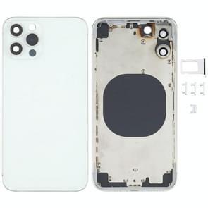 Achterkant behuizing cover met uiterlijk imitatie van de iPhone 12 Pro voor iPhone X (Wit)