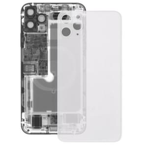 Transparent Glass Battery Back Cover for iPhone 11 Pro(Transparent)