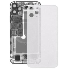 Transparante frosted glazen batterij achtercover voor iPhone 11 Pro Max (transparant)
