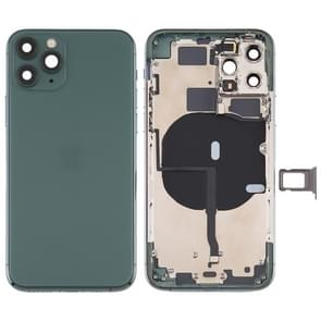 Battery Back Cover (met side keys & Card Tray & Power + Volume Flex Cable & Wireless Charging Module) voor iPhone 11 Pro Max(Groen)