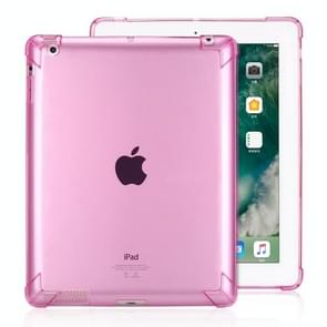 Highly Transparent TPU Full Thicken Corners Shockproof Protective Case for iPad 4 / 3 / 2 (Red)
