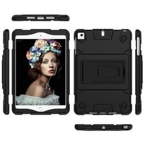 volledige silicone schokbestendige Case voor iPad mini (2019) & 4 & 3 & 2 & 1, met houder (zwart)