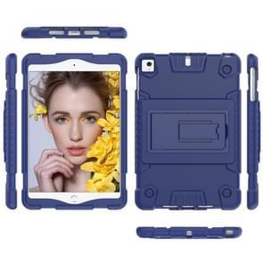 Volledige dekking silicone schokbestendig geval voor iPad mini (2019) & 4 & 3 & 2 & 1, met houder (blauw)