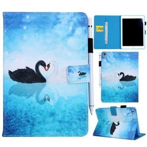 Swan Pattern Horizontal Flip Leather Case for iPad Air / Air 2 / iPad Pro 9.7 2016 / iPad 9.7 2017 / 9.7 2018, with Holder & Card Slot & Wallet