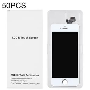 50 PCS Cardboard Packaging White Box for iPhone 5 LCD Screen and Digitizer Full Assembly