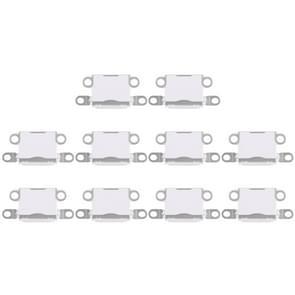 10 stuks opladen Port-Connector voor iPhone 5 / 5S(White)