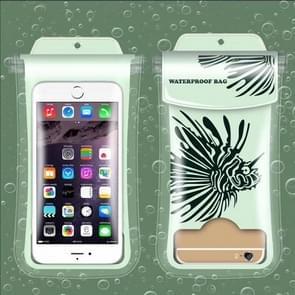 Squirrel Pattern PVC Transparent Universal Luminous Waterproof Bag with Lanyard for Smart Phones below 5.8 inch
