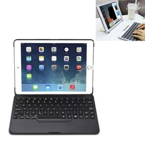 F611 Detachable Colorful Backlight Aluminum Backplane Wireless Bluetooth Keyboard Protective Case for iPad Air 2 / 9.7 (2018) / 9.7 inch (2017) / Air / Pro 9.7 inch(Black)