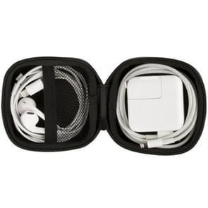 Original Xiaomi Date Cable Charger Earphone Portable PU Storage Box(Black)