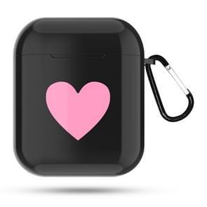 Hart patroon Apple koptelefoon draadloos opladen vak stofdichte schokbestendige buiten beschermhoes voor Airpods(Black)