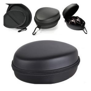 Draagbare EVA vak schokbestendige opbergtas voor koptelefoons  met Carabiner (zwart)