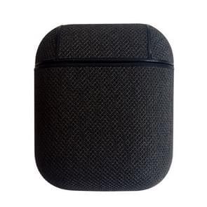 Zee zand textuur anti-verloren Dropproof draadloze oortelefoons opladen vak beschermhoes voor Apple AirPods (zwart)