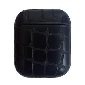 Stone Texture anti-verloren Dropproof draadloze oortelefoons opladen vak beschermhoes voor Apple AirPods (zwart)