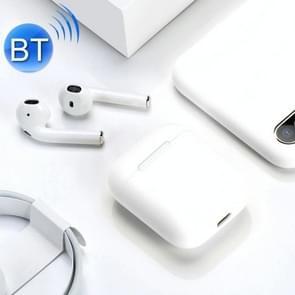 i18 draadloze sport bilaterale stereo Bluetooth 5 0 headset (wit)