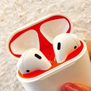 Creative stofdichte beschermende sticker voor Apple luchtpods 1/2 (zwart)