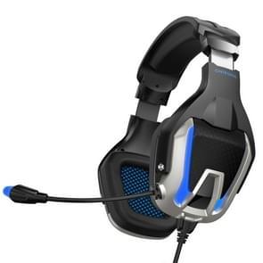 ONIKUMA K12 Over Ear Bass Stereo Surround USB + 3.5mm Plug Gaming Headphone with Microphone & LED Light(Blue)