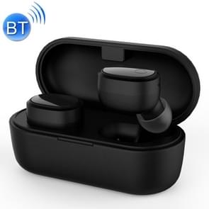 Langsdom F178 TWS Bluetooth 5.0 Touch Wireless Earphone with Charging Box (Black)