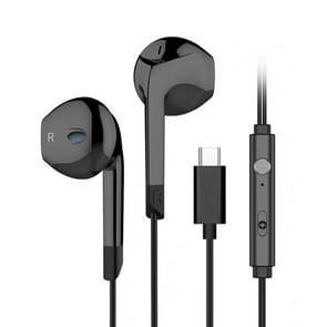 Langsdom V6T HIFI type-C bedrade stereo oortelefoon (zwart)