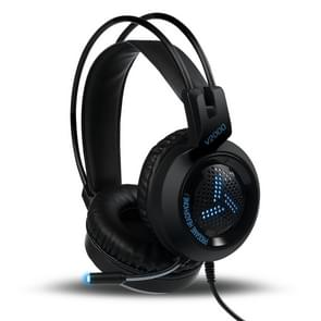 HAMTOD V2000 Short Microphone Dual 3.5mm + USB Interface Wired Gaming Headset, Cable Length: 2.1m