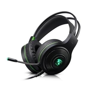 HAMTOD V5000 Dual 3.5mm + USB Interface Wired Gaming Headset, Cable Length: 2.1m(Black)