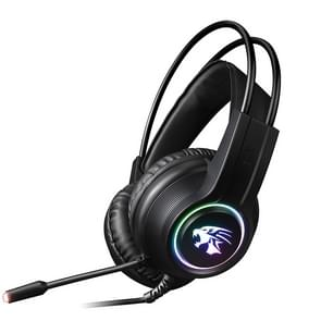 HAMTOD V9000 Dual 3.5mm + USB Interface Wired Gaming Headset, Cable Length: 2.1m