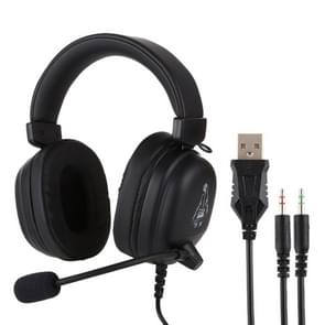 HAMTOD V6800 Dual 3.5mm + USB Interface Wired Gaming Headset, Cable Length: 2.1m