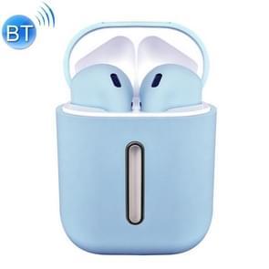 Q8L TWS Bluetooth 5,0 Touch draadloze Bluetooth-oortelefoon met magnetische adsorptie oplaad case, ondersteunt Power display & HD Calling (blauw)