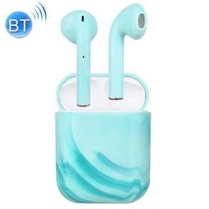 InPods 12 TWS Bluetooth 5 0 marmer patroon draadloze Bluetooth oortelefoon met magnetische aantrekkingskracht opladen box  ondersteuning Touch & bilaterale oproep (blauw)