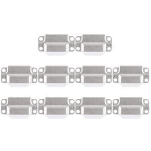 10 PCS-oplaadpoortconnector voor iPad Air 2(Wit)