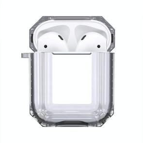 Draadloze oortelefoon opladen vak transparante TPU beschermhoes voor Apple luchtpods 1/2 (zwart)