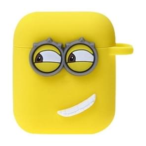 Wireless Earphones Silicone Storage Case Despicable Me Style Earphones Case with Hook for Airpods