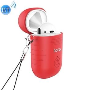 HOCO E39 Single Right Ear Bluetooth 5.0 Headset with Wireless Charging Box(Red)