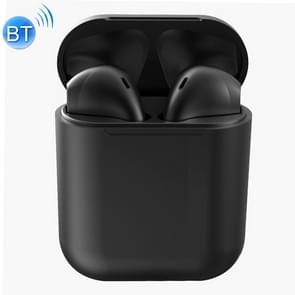 InPods 12 HiFi Wireless Bluetooth 5.0 Earphones with Charging Case, Support Touch & Voice Function (Black)