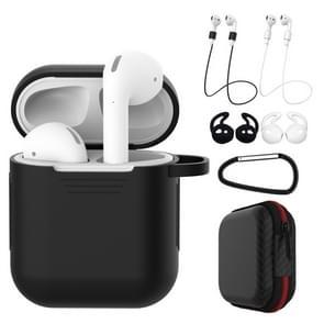 7 stuks draadloze oortelefoon schokbestendige siliconen beschermhoes voor Apple luchtpods 1/2 (zwart wit)
