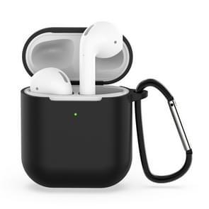 Draadloze oortelefoon schokbestendige siliconen beschermhoes voor Apple luchtpods 1/2 (zwart)