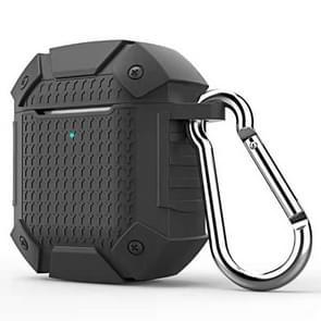 Draadloze oortelefoon schokbestendige Armor silicone beschermhoes voor Apple luchtpods 1/2  draadloze versie (zwart)