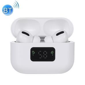 i58 TWS Bluetooth 5.0 Touch Draadloze Bluetooth-oortelefoon voor iOS-systeemapparatuur  met Magnetic Attraction Charging Box & Smart Digital Display  Ondersteuning Siri(Wit)