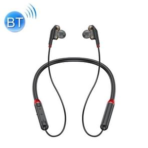 WK V16 Bluetooth 5.0 Magnetisch aangetrokken Dual Moving Coil Neck-mounted Sports Bluetooth Earphone(Zwart)