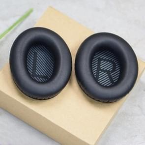 1 Pair Soft Earmuff Headphone Jacket with LR Cotton for BOSE QC2 / QC15 / AE2 / QC25(Black)