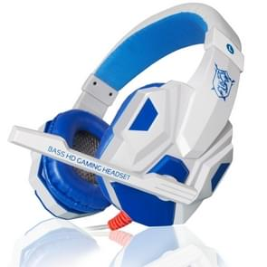 PLEXTONE PC780 over-ear gaming oortelefoon subwoofer stereo Bass hoofdband headset met microfoon (wit blauw)