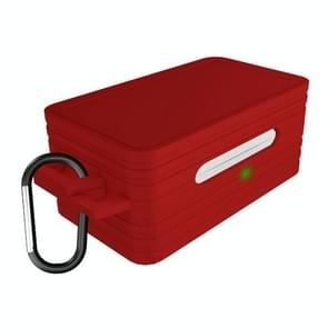 Voor Galaxy Buds Bluetooth Sports Oortelefoon Beschermhoes Anti-drop Siliconen opslagdoos (Rood)
