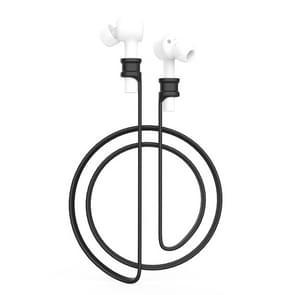 Voor Xiaomi Air oortelefoon silicone Lanyard anti-lost Rope (zwart)