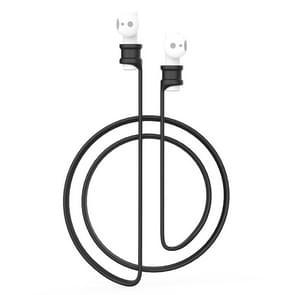 Voor Xiaomi Air 2 oortelefoon silicone Lanyard anti-lost Rope (zwart)
