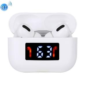 i333 TWS Touch Control Bluetooth 5.0 Draadloze oortelefoon voor iOS met Digital Display Charging Box Support Renaming Bluetooth & Locating(White)