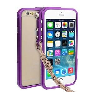 For iPhone 6 & 6s Aviation Aluminum Bumper Frame (Purple)