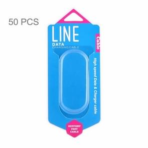 50 PCS Fashion Color Box Packing for Data / Charging Cable, Suitable Cable Length: About 1m