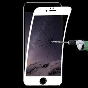 0.1 mm 9H volledig scherm flexibele Fiber gehard glas film voor iPhone 6 & 6s (wit)