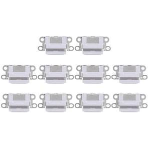 10 PCS-oplaadpoortconnector voor iPhone 6 / 6S(lichtgrijs)