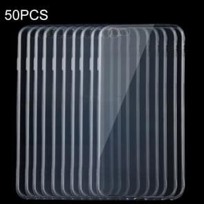 50 PCS for iPhone 6 Plus & 6s Plus 0.75mm Ultra-thin Transparent TPU Protective Case